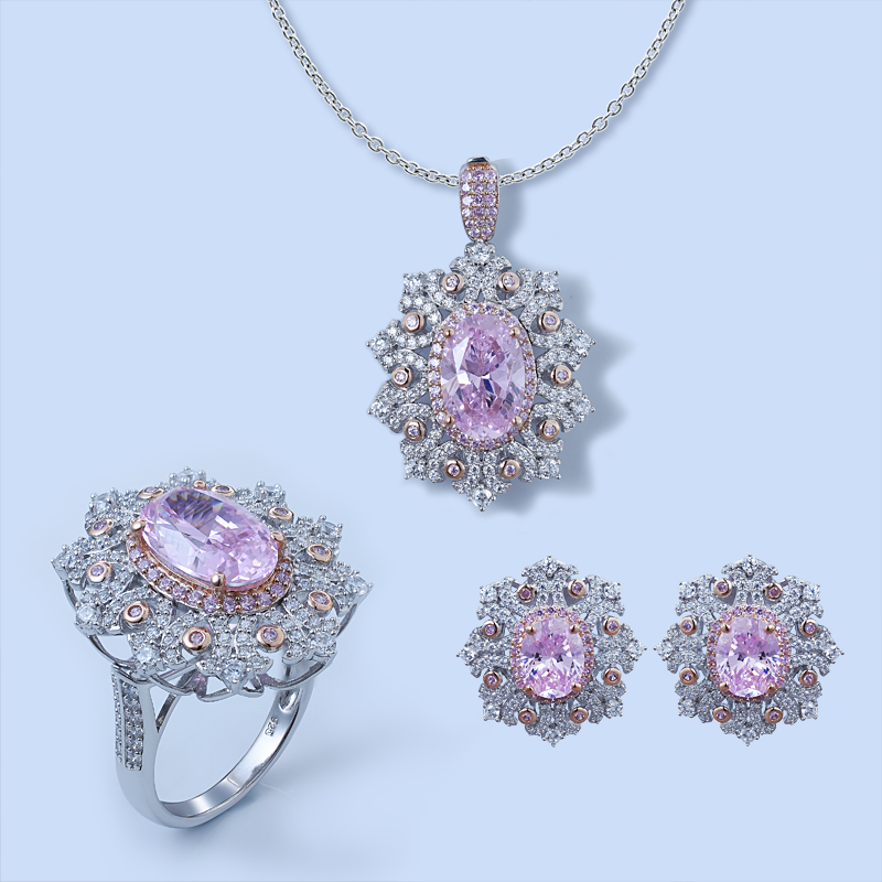 Snow Flake Jewelry Set For Ladies