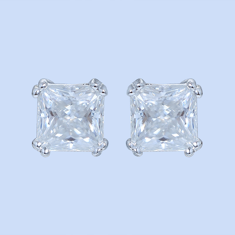 Square Diamond Earrings For Women